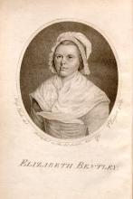 Portrait of Elizabeth Bentley (1767-1839). From a collection of her poems, Genuine Poetical Compositions, on Various Subjects (Norwich UK, published by subscription, 1791)
